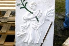 Renovierungsarbeiten - der alte Bildstock wird abgebaut